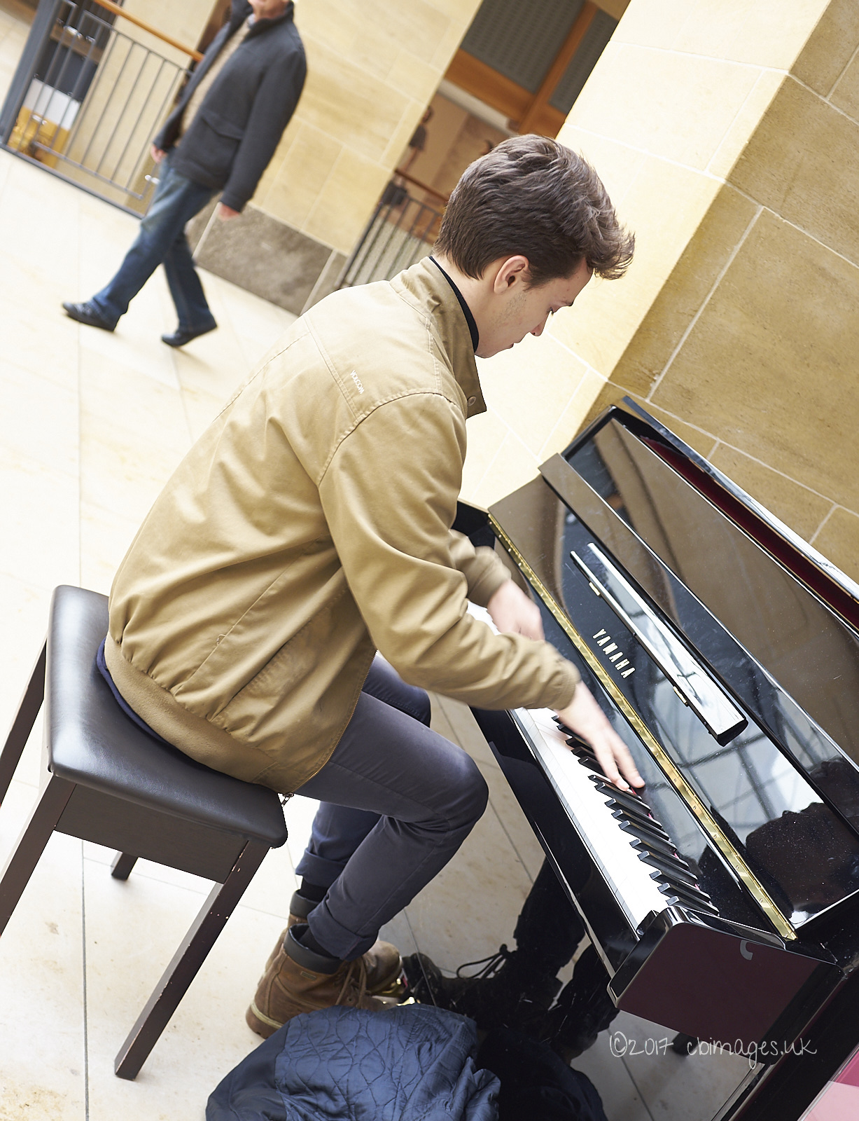 man at piano