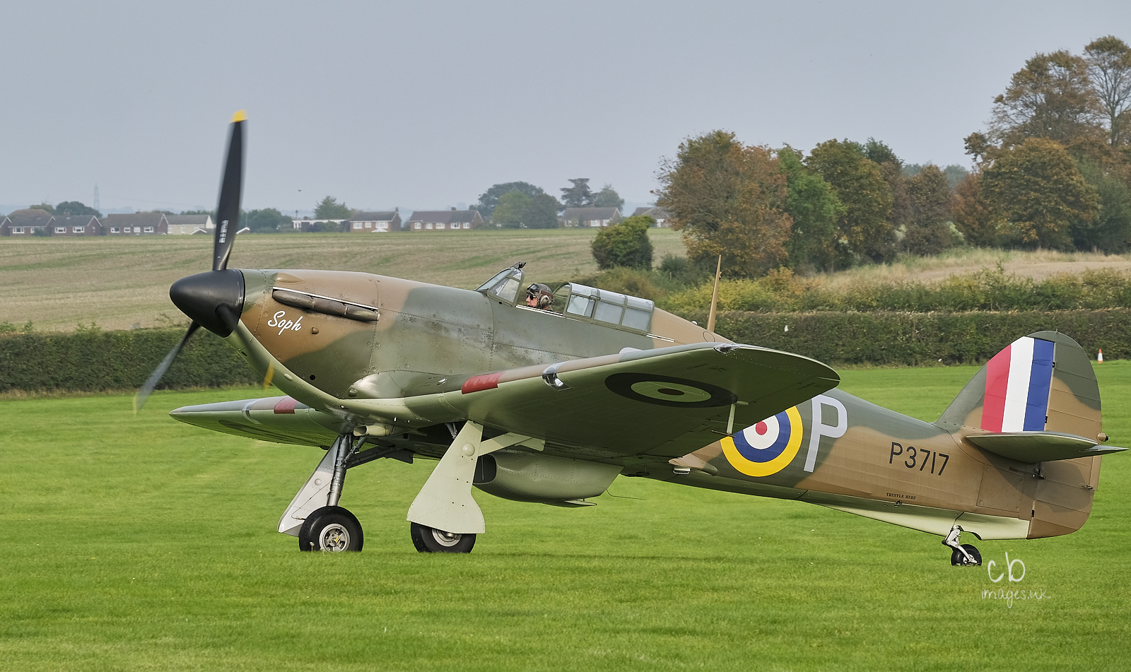 Hurricane fighter taxying