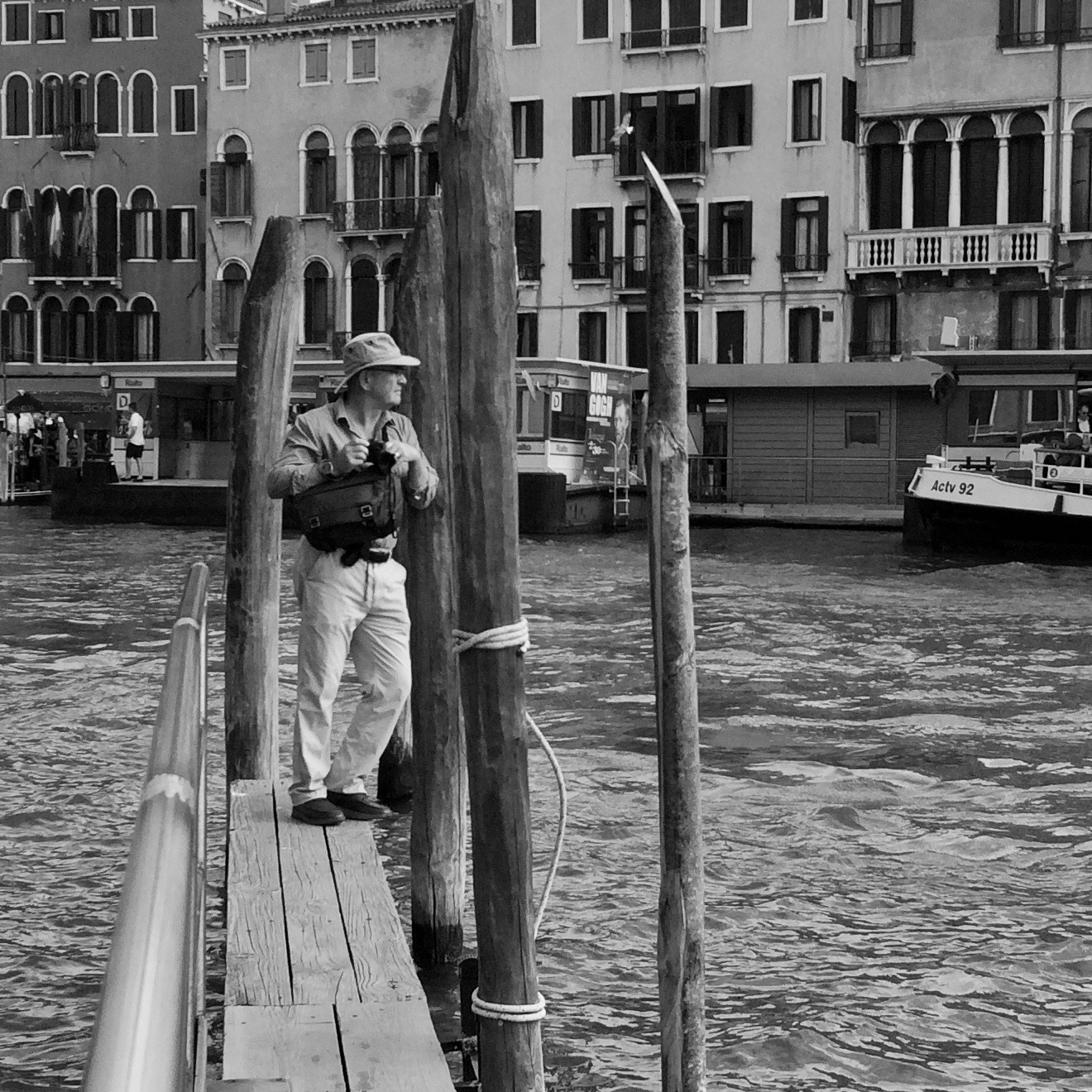 On a pier on the Grand Canal