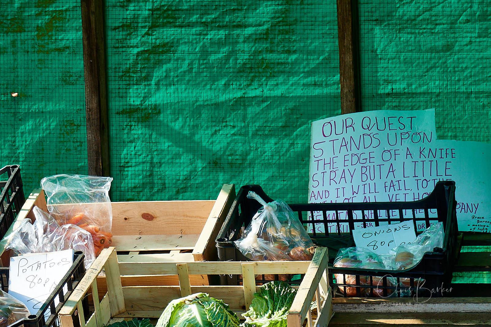 Notice on stall