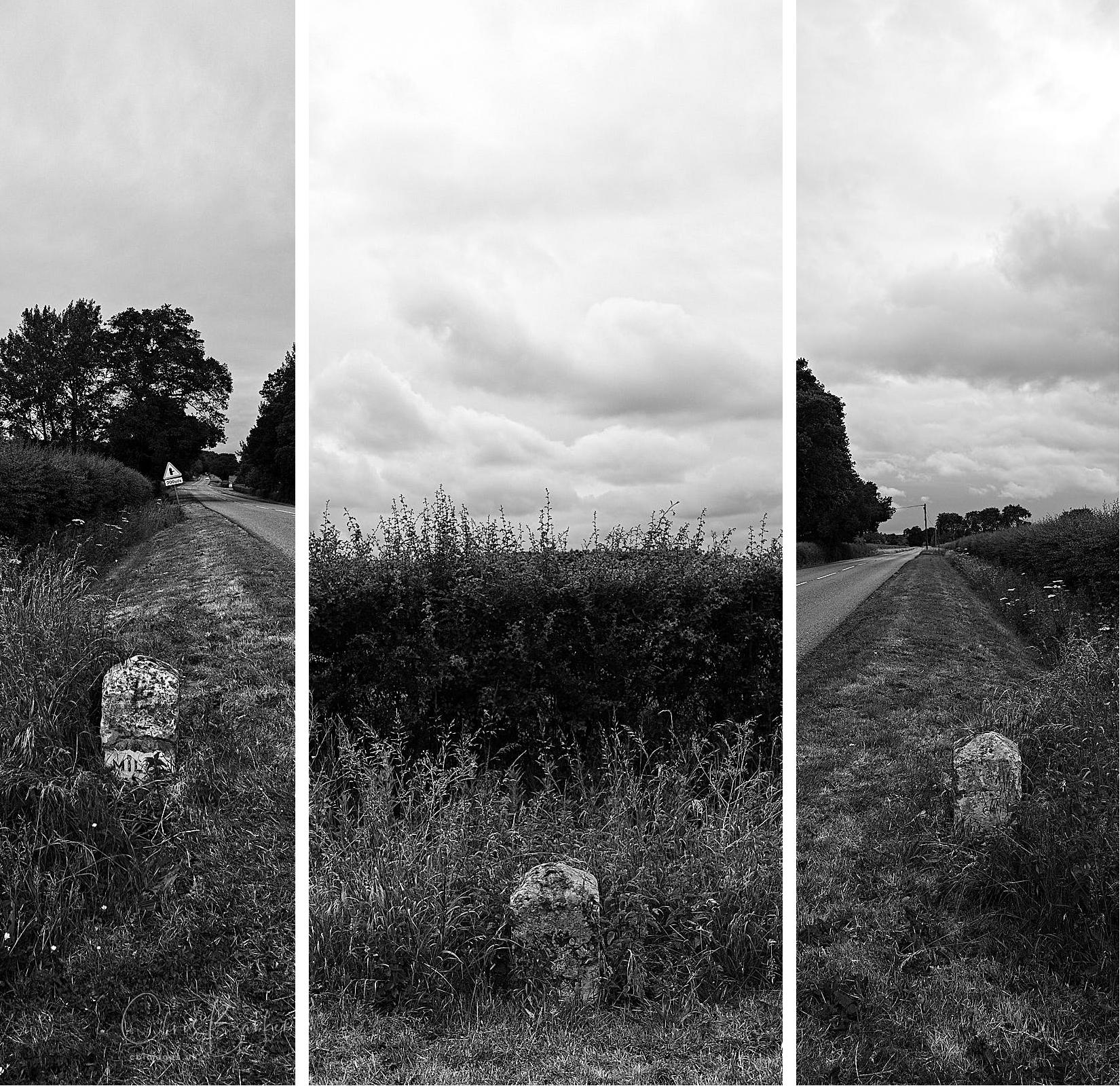 A triptych of a milestone