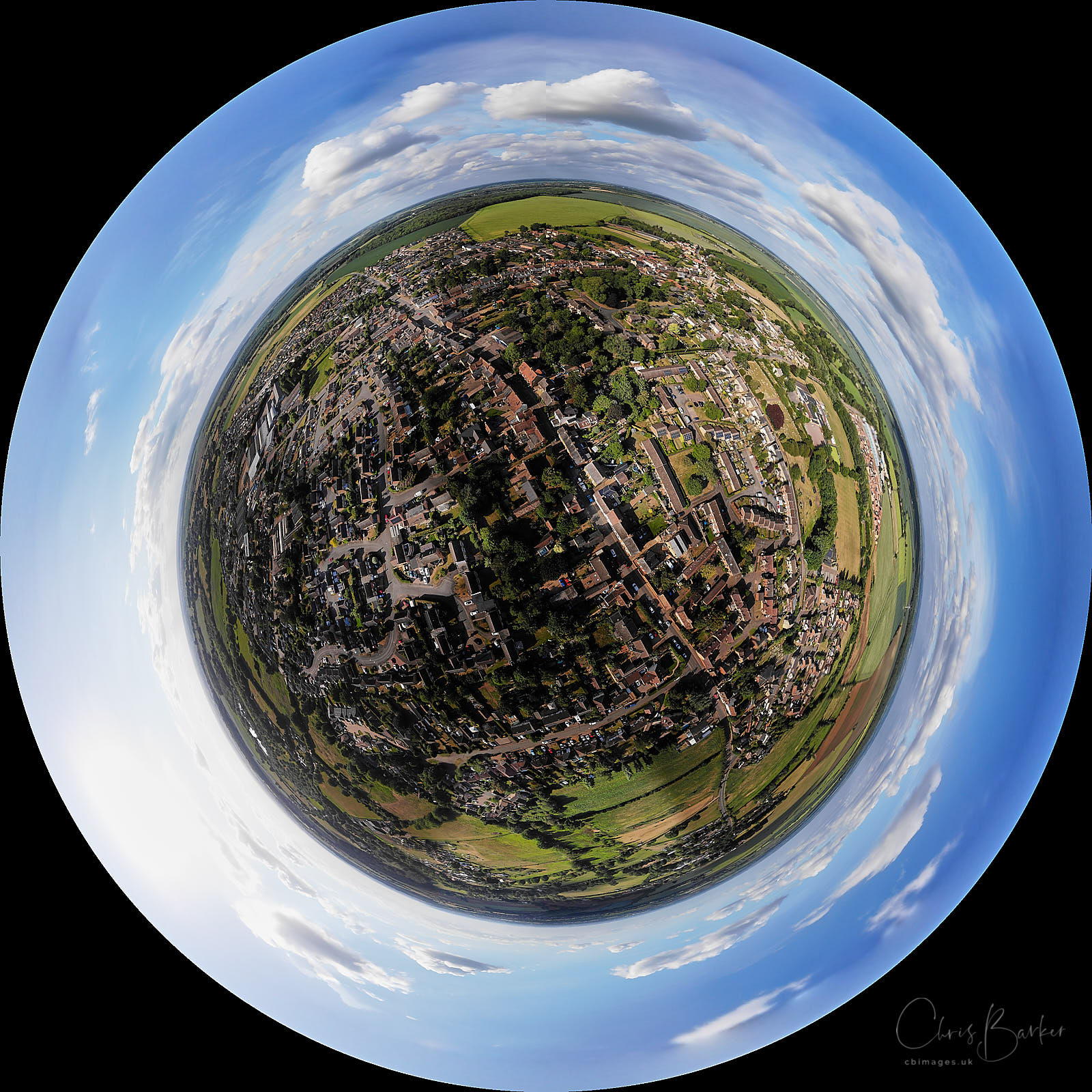 A view of our village made circular